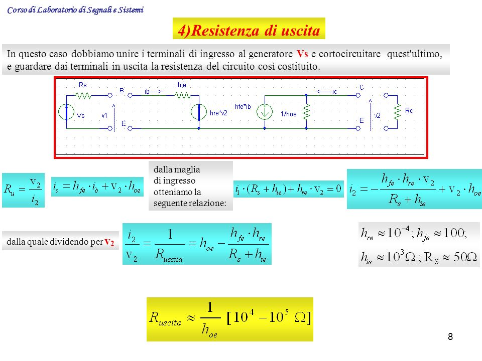 Corso di Laboratorio di Segnali e Sistemi