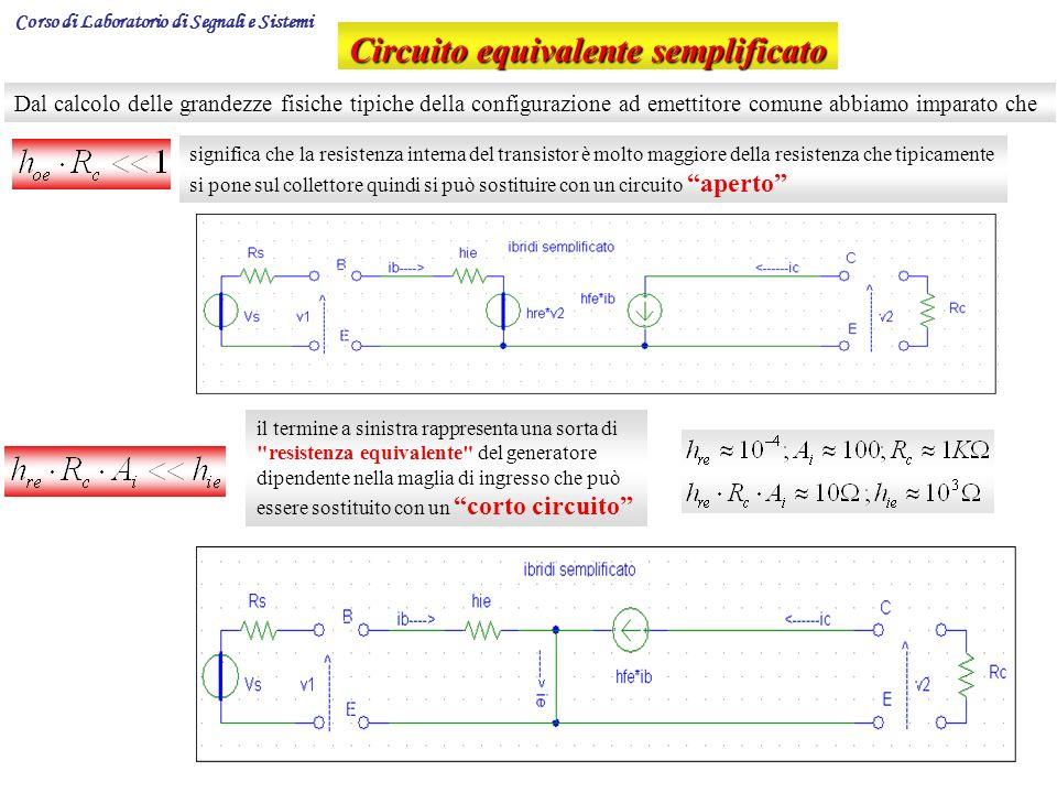 Circuito equivalente semplificato