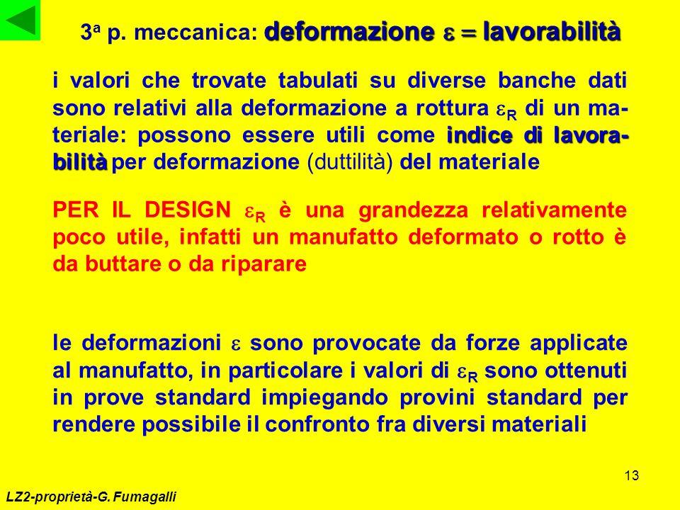 3a p. meccanica: deformazione e = lavorabilità