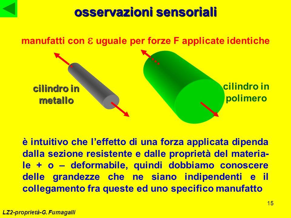 osservazioni sensoriali