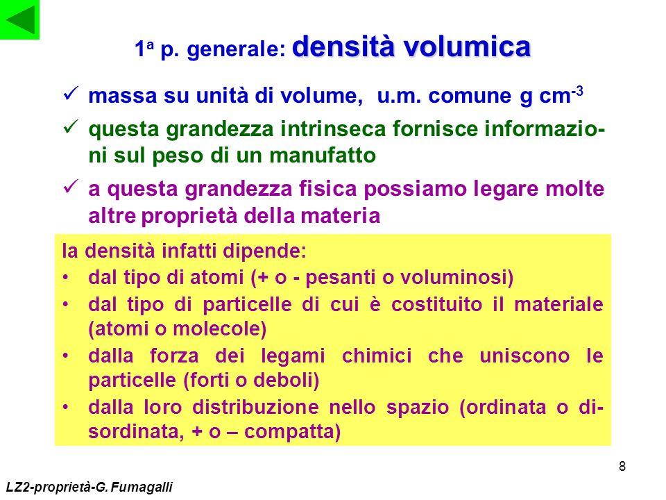 1a p. generale: densità volumica