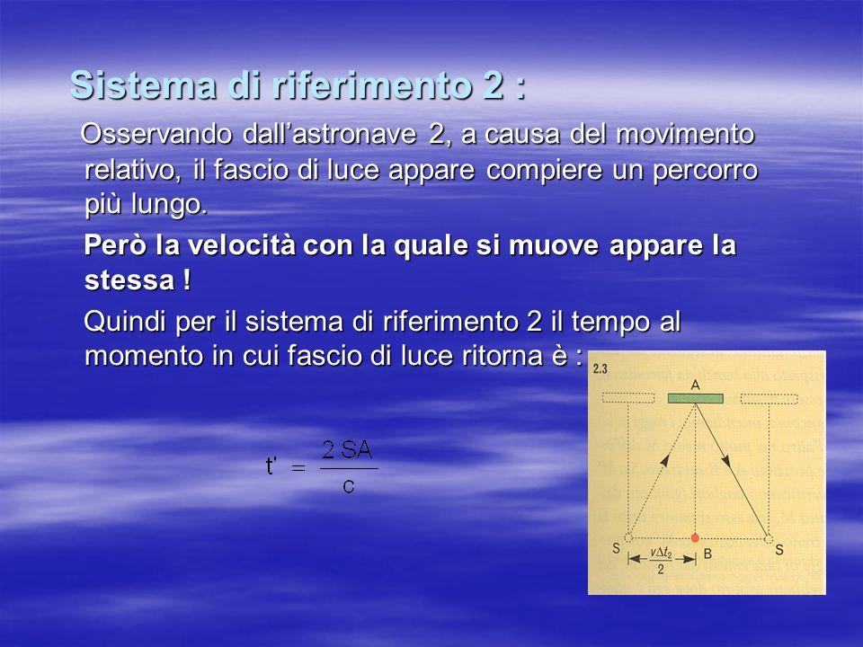 Sistema di riferimento 2 :