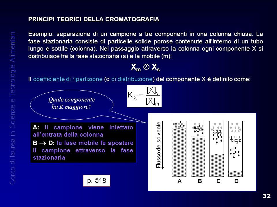 Xm  Xs Corso di laurea in Scienze e Tecnologie Alimentari p. 518