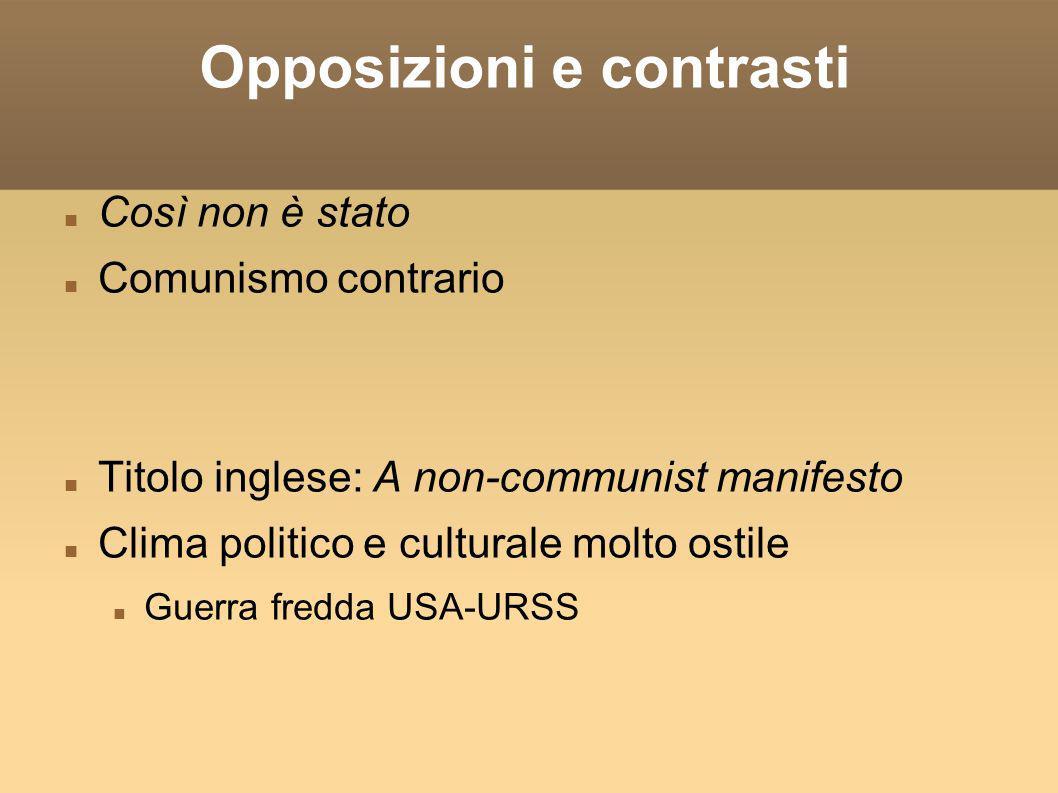 Opposizioni e contrasti