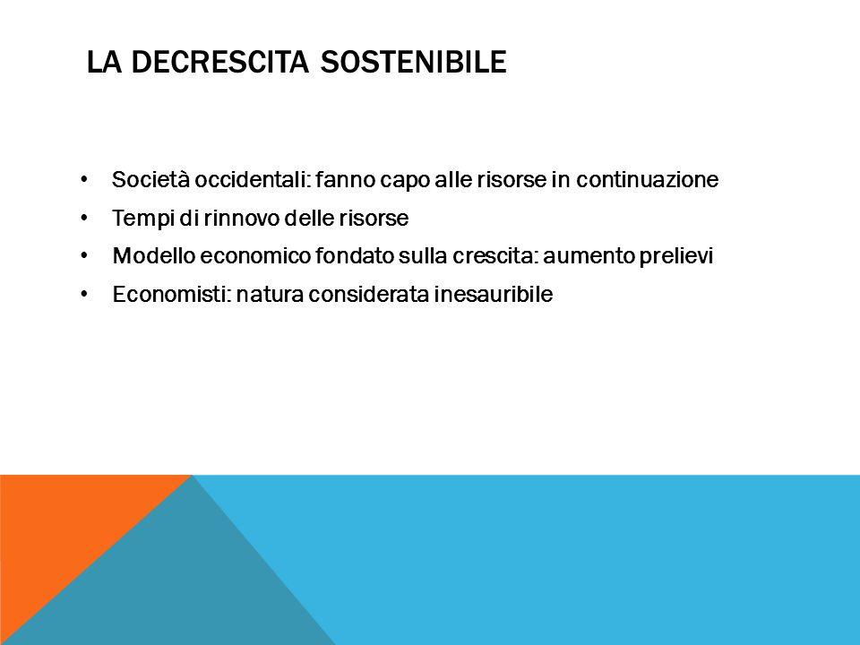 La decrescita sostenibile
