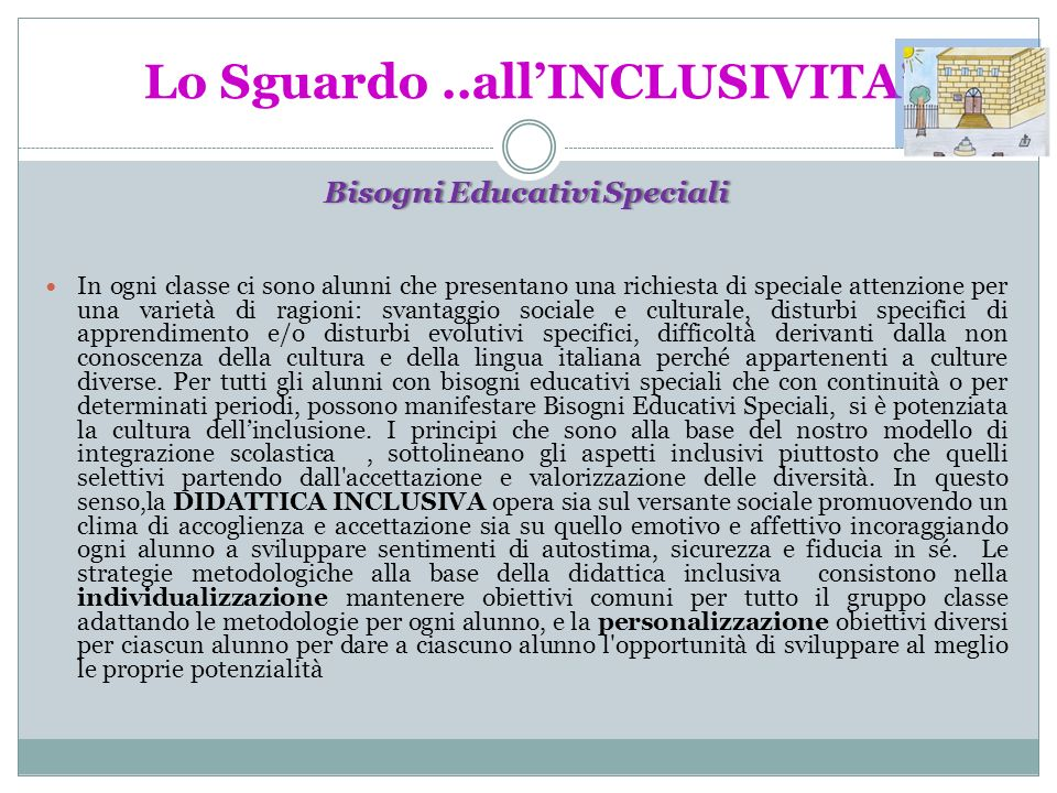 Lo Sguardo ..all'INCLUSIVITA'