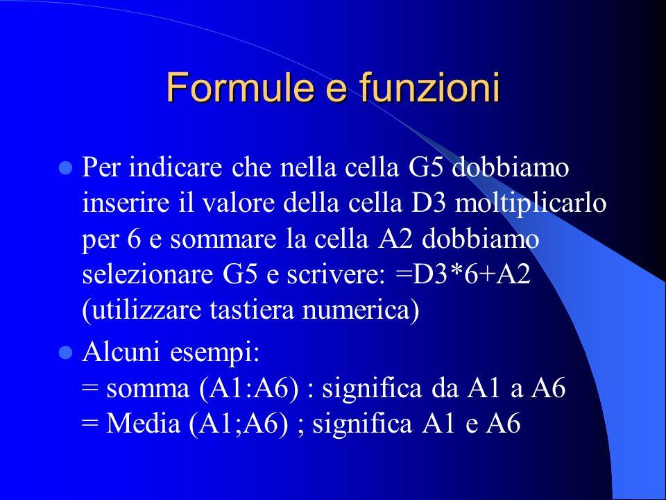 Formule e funzioni