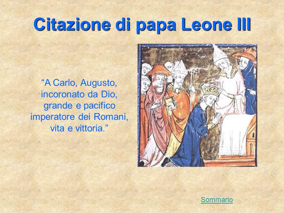 Citazione di papa Leone III