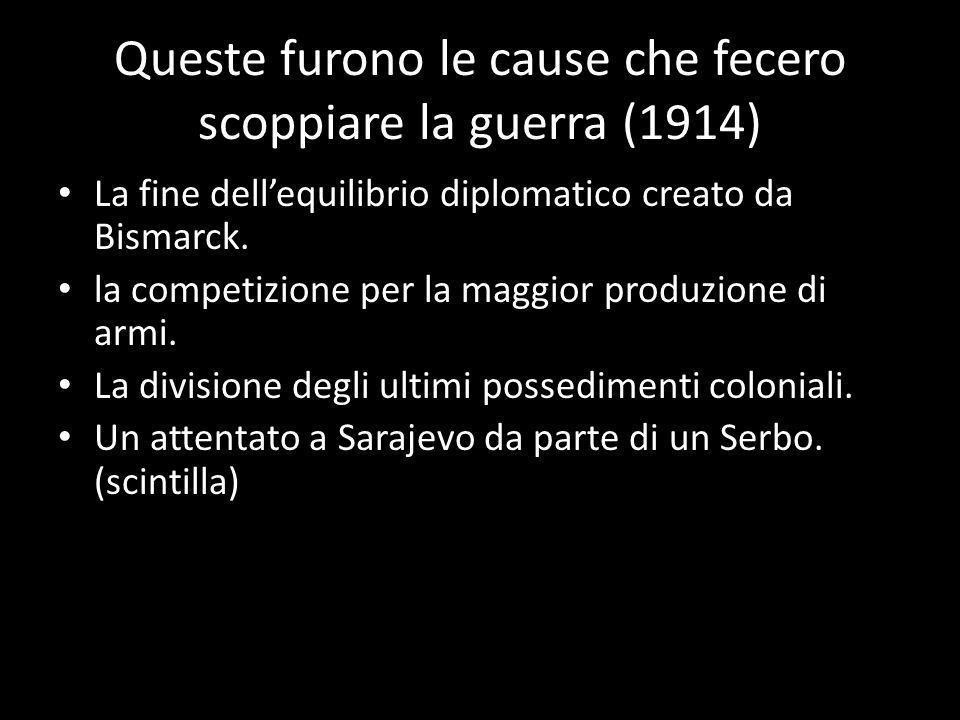 Queste furono le cause che fecero scoppiare la guerra (1914)