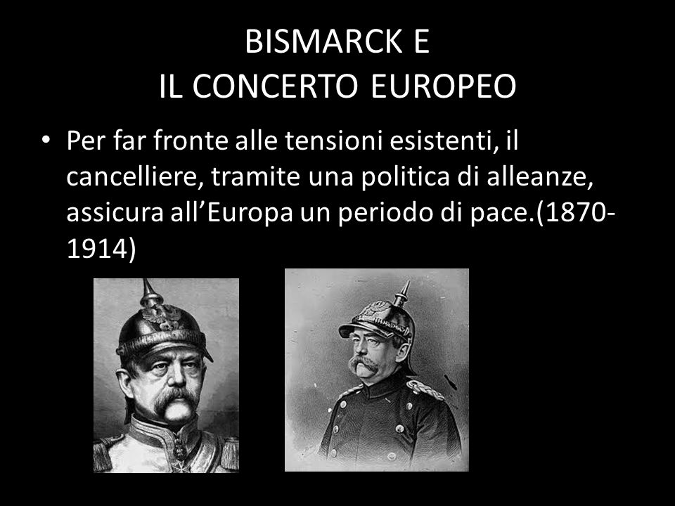 BISMARCK E IL CONCERTO EUROPEO