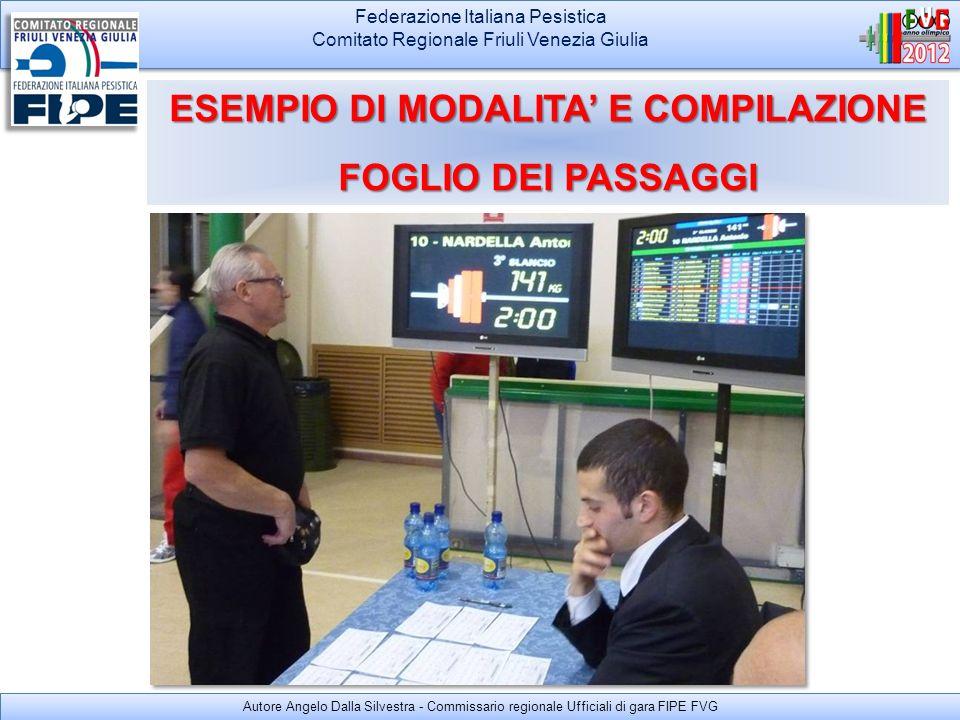 ESEMPIO DI MODALITA' E COMPILAZIONE