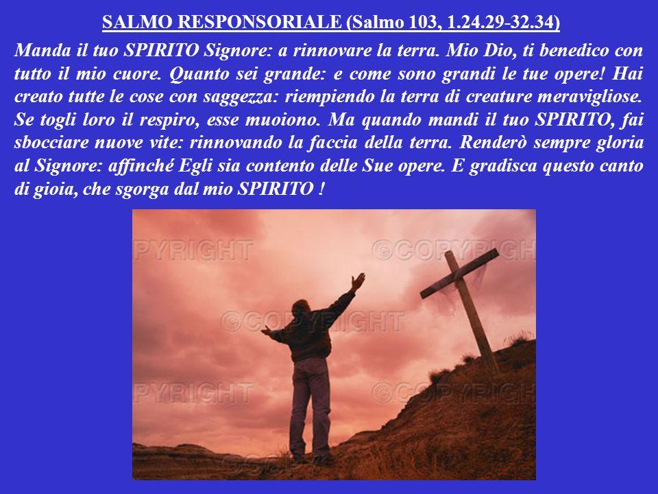 SALMO RESPONSORIALE (Salmo 103, 1.24.29-32.34)