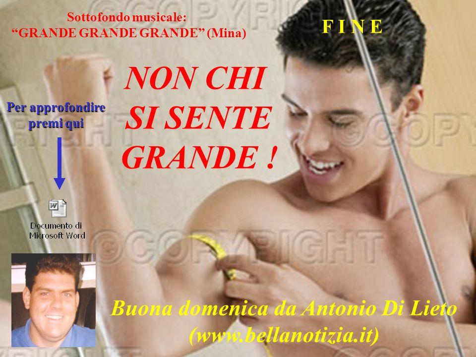 NON CHI SI SENTE GRANDE ! Buona domenica da Antonio Di Lieto