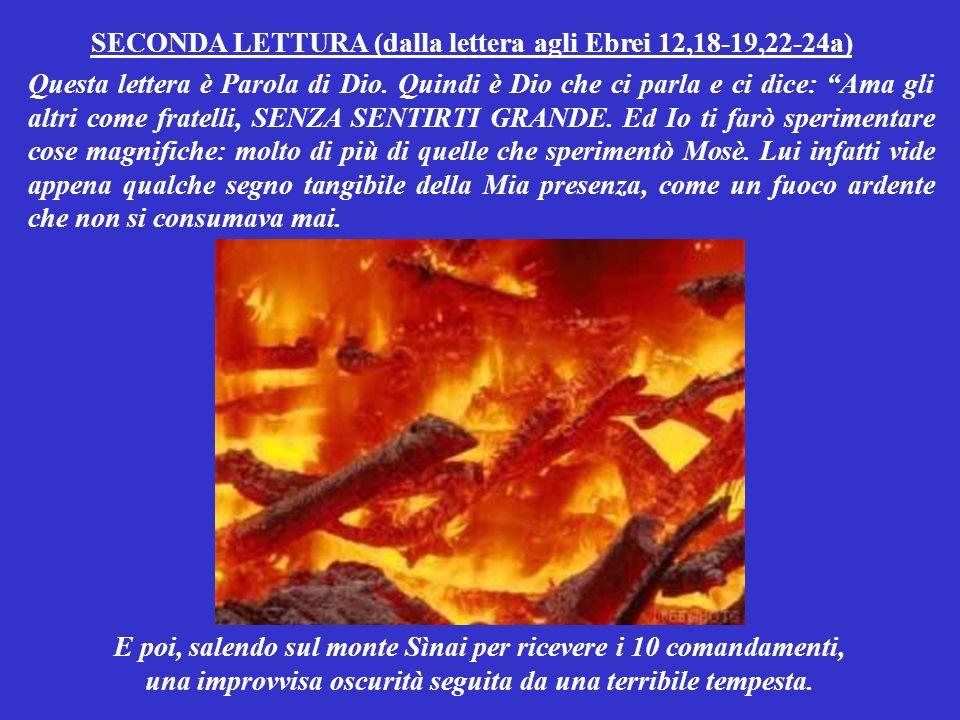 SECONDA LETTURA (dalla lettera agli Ebrei 12,18-19,22-24a)