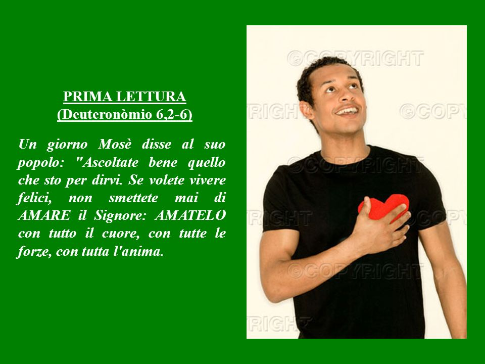 PRIMA LETTURA (Deuteronòmio 6,2-6)