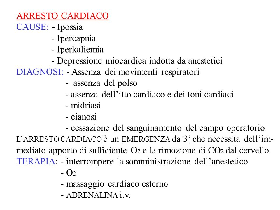 - Depressione miocardica indotta da anestetici