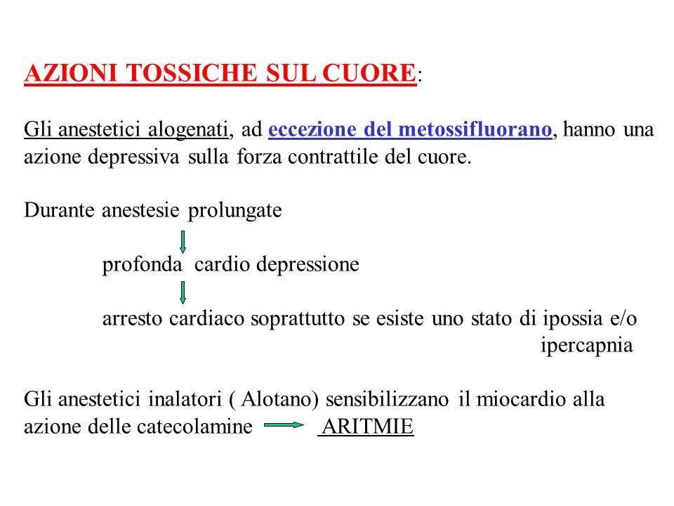 AZIONI TOSSICHE SUL CUORE: