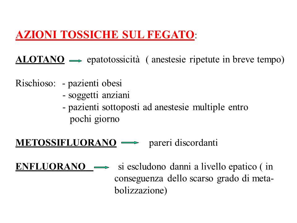 AZIONI TOSSICHE SUL FEGATO: