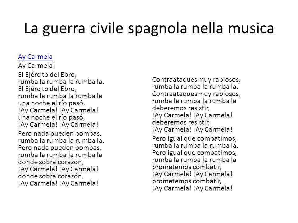 La guerra civile spagnola nella musica