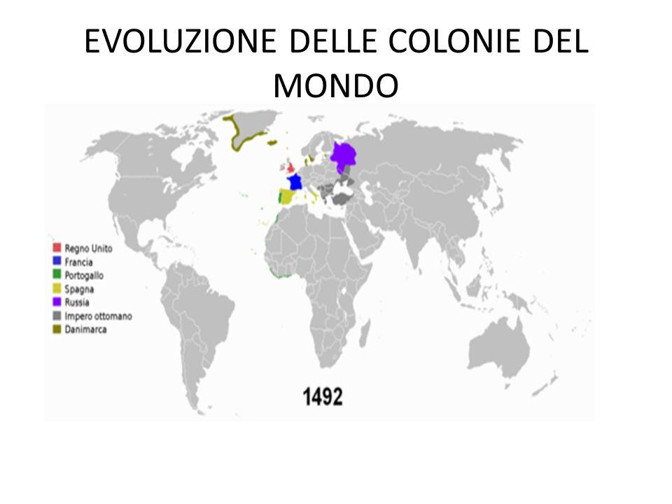 EVOLUZIONE DELLE COLONIE DEL MONDO
