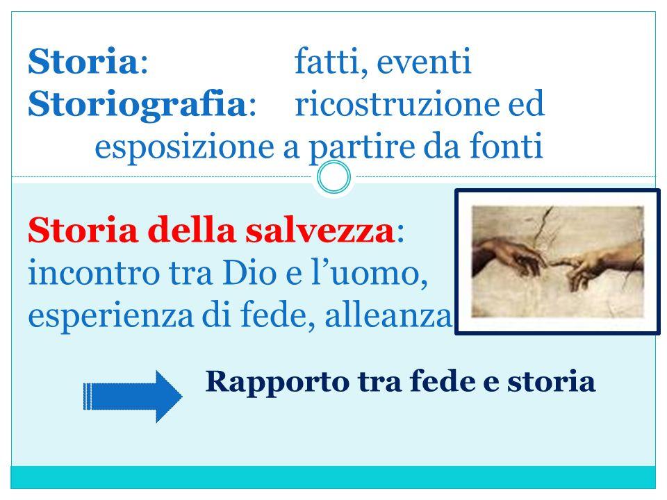 Storia:. fatti, eventi Storiografia:. ricostruzione ed