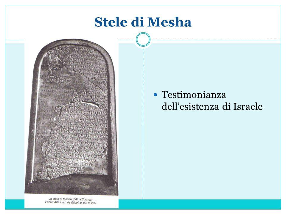 Stele di Mesha Testimonianza dell'esistenza di Israele