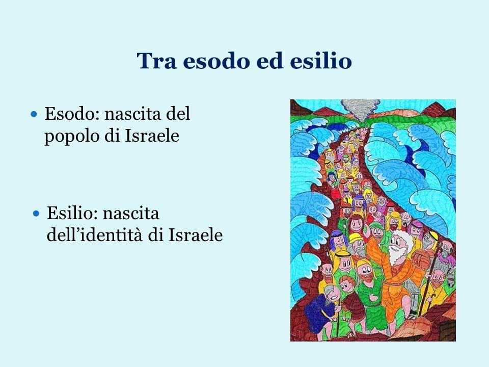 Tra esodo ed esilio Esodo: nascita del popolo di Israele