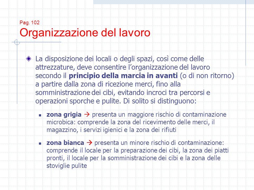 Pag. 102 Organizzazione del lavoro