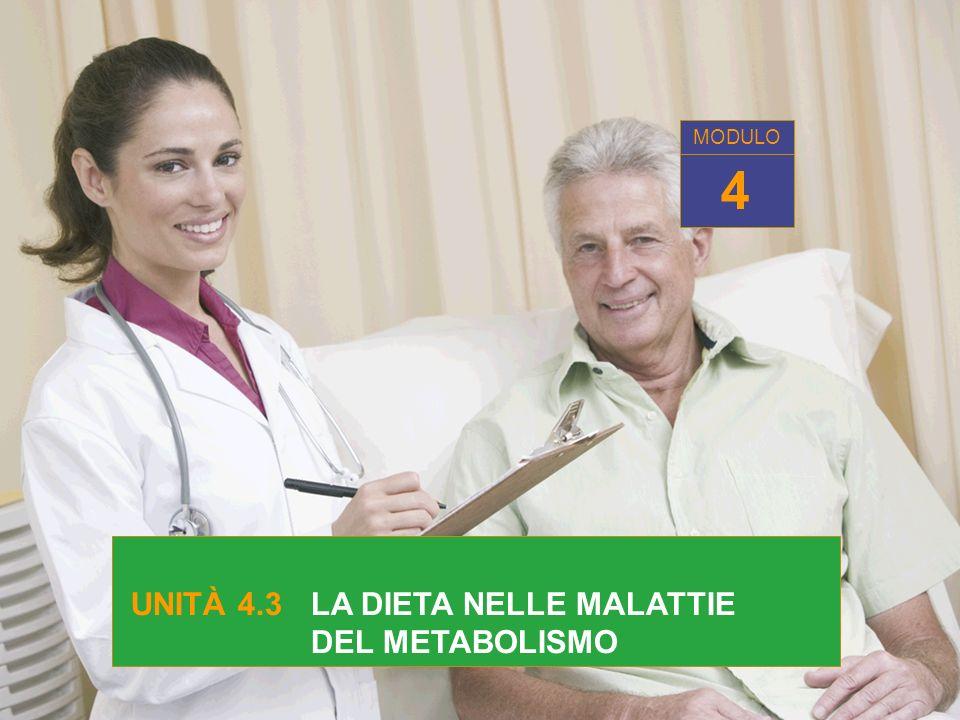 MODULO 4 UNITÀ 4.3 LA DIETA NELLE MALATTIE DEL METABOLISMO