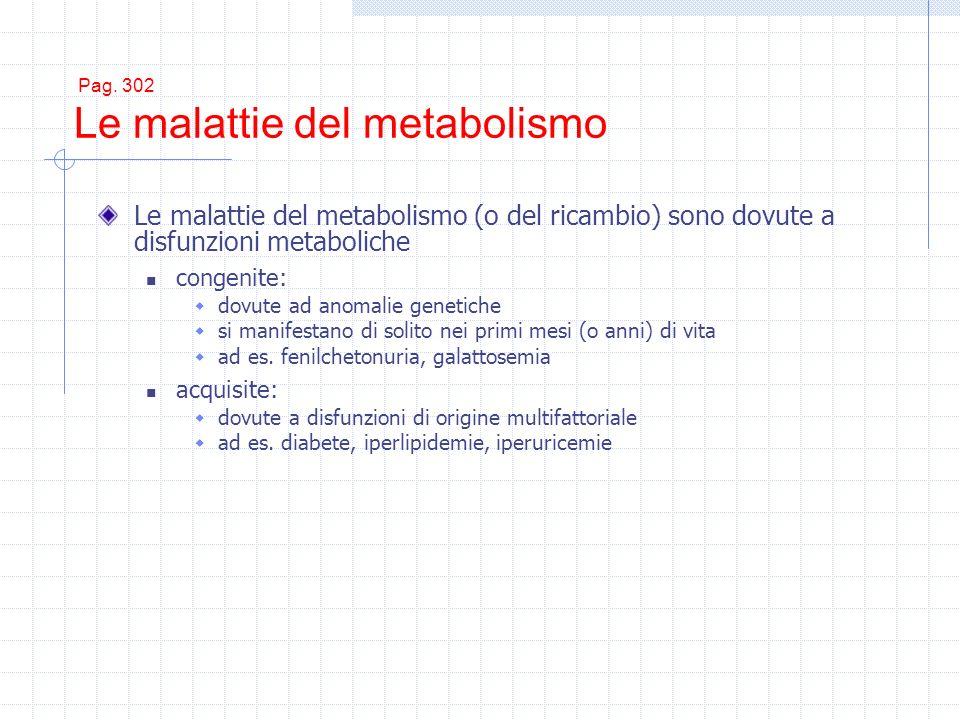 Pag. 302 Le malattie del metabolismo