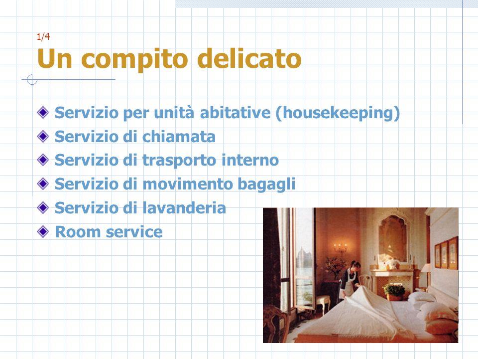 Servizio per unità abitative (housekeeping) Servizio di chiamata