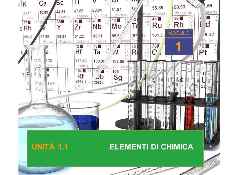 MODULO MODULO 1 UNITÀ 1.1 ELEMENTI DI CHIMICA