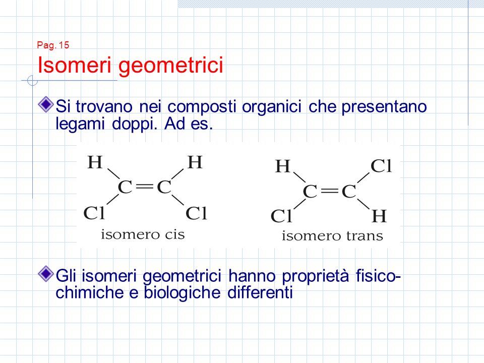 Pag. 15 Isomeri geometrici