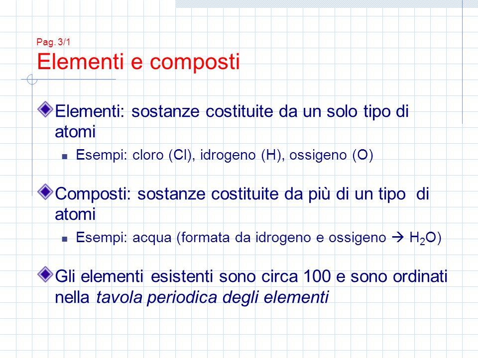 Pag. 3/1 Elementi e composti