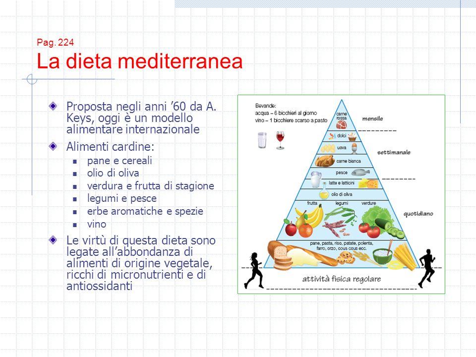Pag. 224 La dieta mediterranea