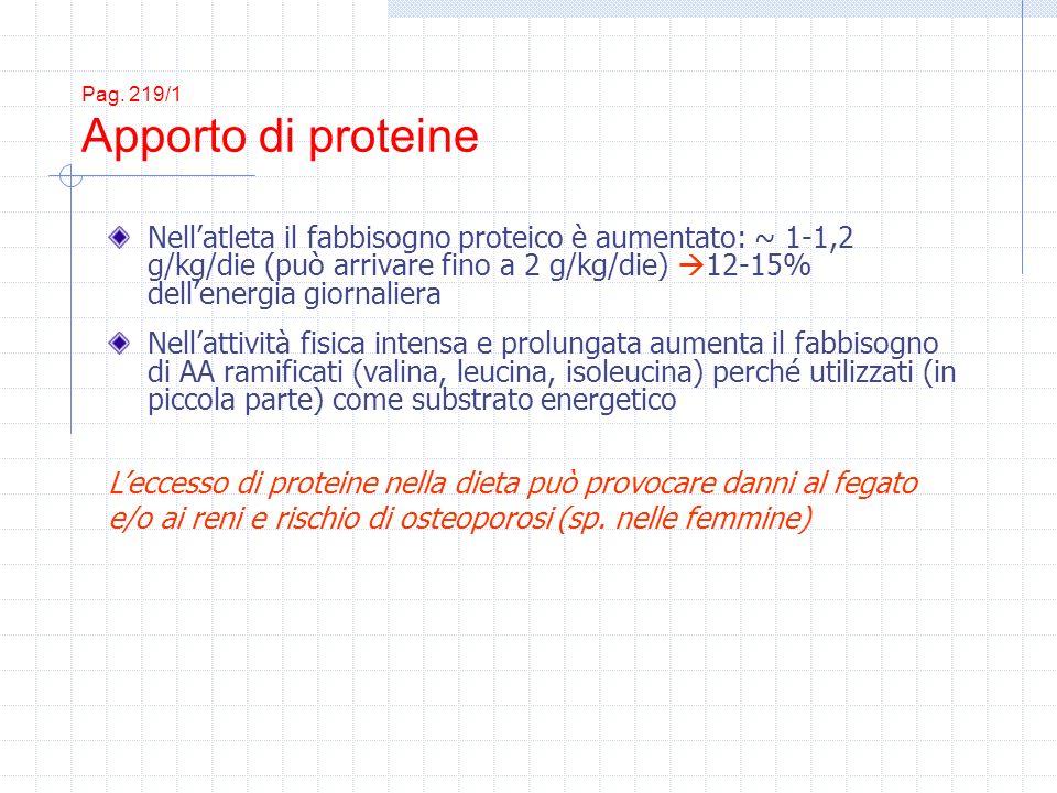 Pag. 219/1 Apporto di proteine