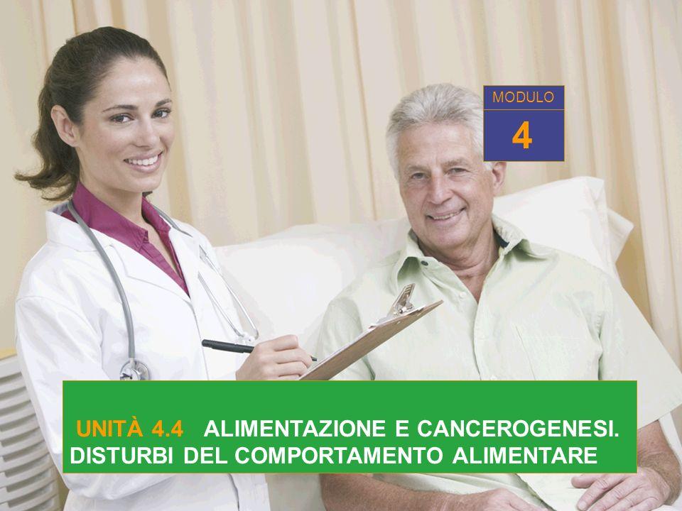MODULO 4 UNITÀ 4.4 ALIMENTAZIONE E CANCEROGENESI. DISTURBI DEL COMPORTAMENTO ALIMENTARE
