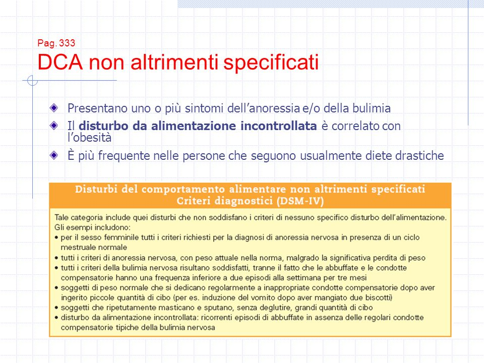 Pag. 333 DCA non altrimenti specificati