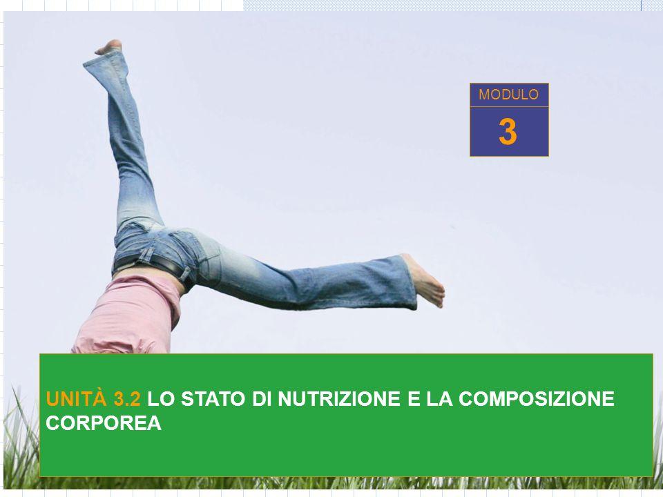 MODULO 3 UNITÀ 3.2 LO STATO DI NUTRIZIONE E LA COMPOSIZIONE CORPOREA