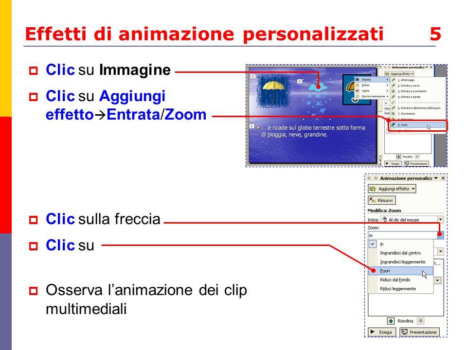 Effetti di animazione personalizzati 5
