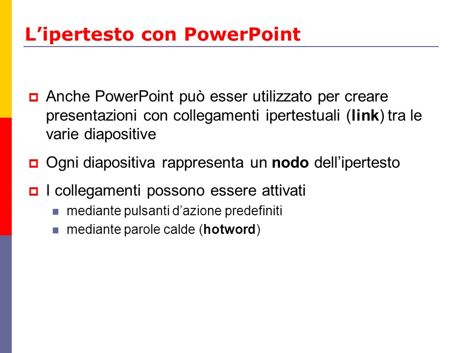 L'ipertesto con PowerPoint