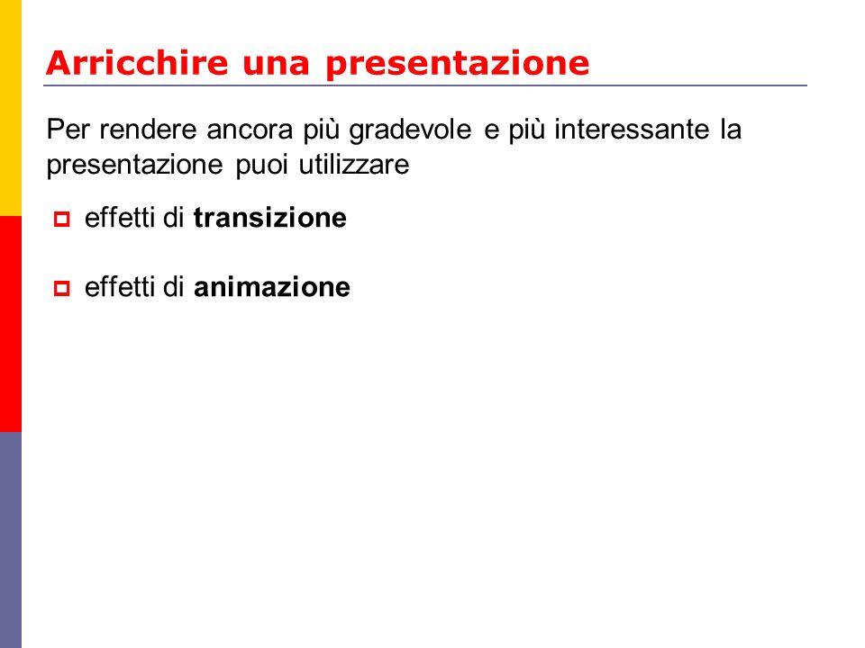 Arricchire una presentazione