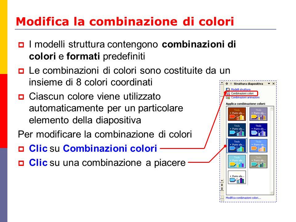 Modifica la combinazione di colori