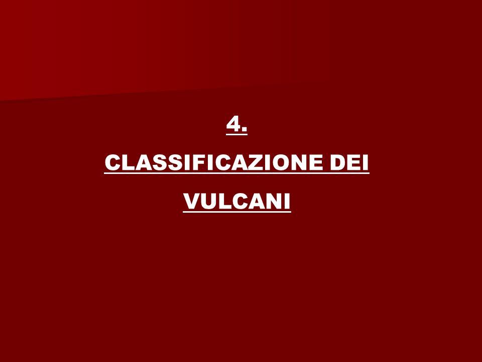 4. CLASSIFICAZIONE DEI VULCANI
