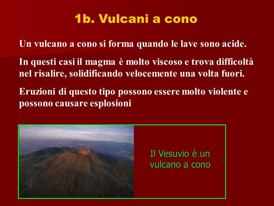 Il Vesuvio è un vulcano a cono