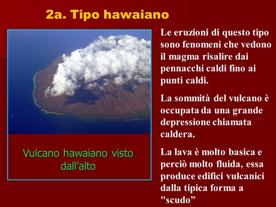 Vulcano hawaiano visto dall'alto