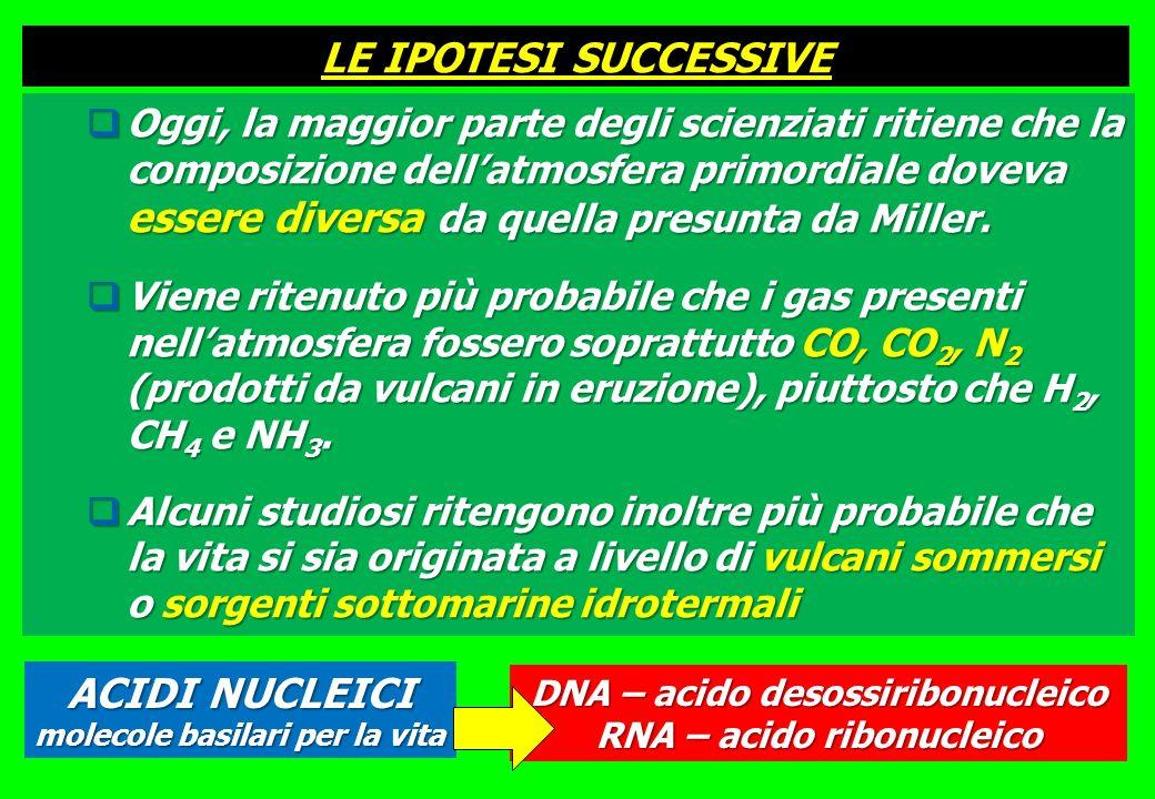 LE IPOTESI SUCCESSIVE ACIDI NUCLEICI