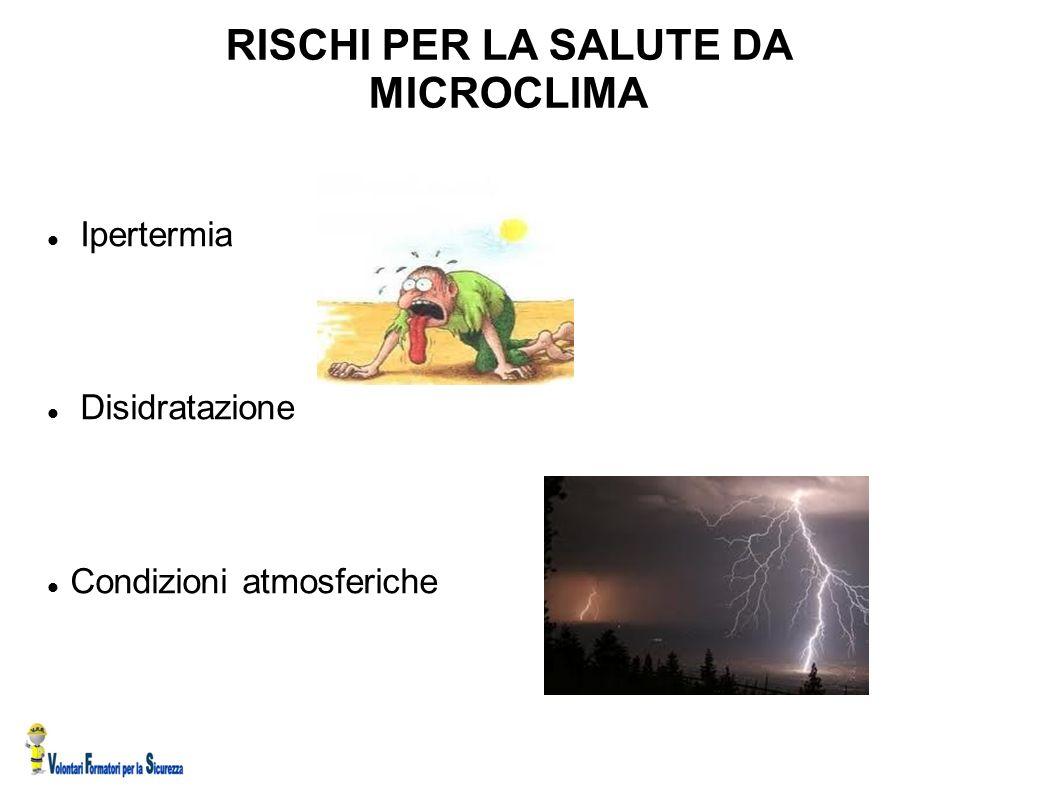 RISCHI PER LA SALUTE DA MICROCLIMA
