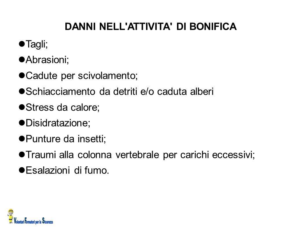 DANNI NELL ATTIVITA DI BONIFICA