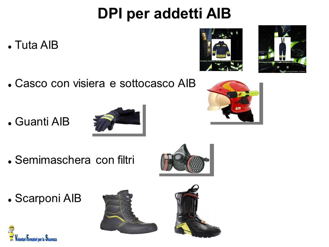 DPI per addetti AIB Tuta AIB Casco con visiera e sottocasco AIB